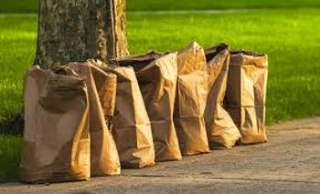 Biodegradable paper bags can be purchased at many local stores.