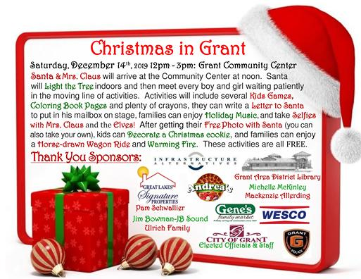 Our event is Saturday, December 14th from noon-3pm